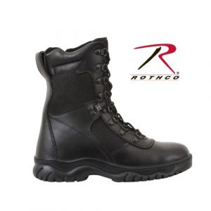 Rothco Combat Boot 1 Forced Entry 5053 Black Tactical Boots for Police, EMS w/Side Zipper