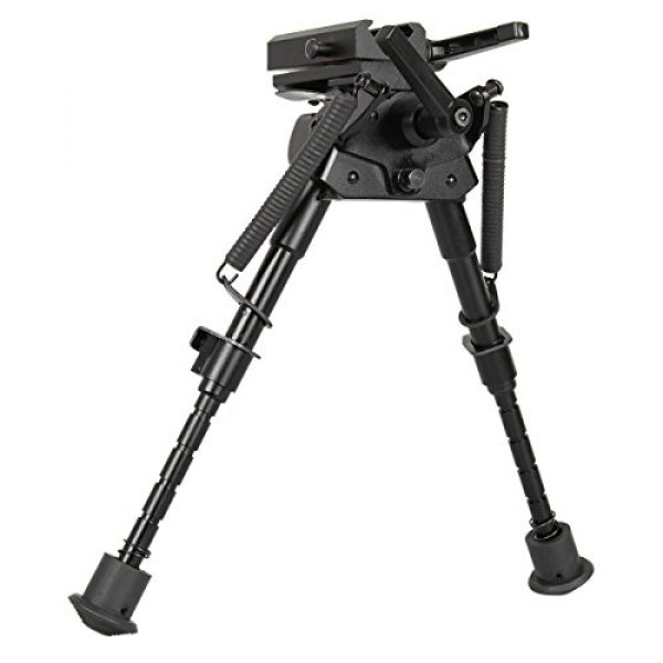 Gazelle Trading Airsoft Gun Barrel Bipod 7 Gazelle Trading 8-11 Inches Tactical Rifle Bipod with Pivot Lock for Shooting Quick Release Monopods