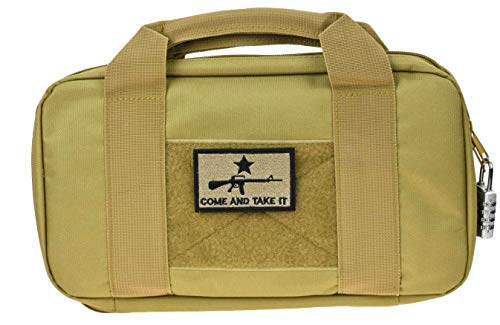 JFFCE Pistol Case 1 JFFCE Tactical Pistol Storage case for Single Pistol and Mag with Heavy Duty Double Zippers