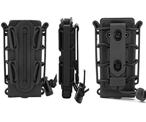 JFFCE  3 JFFCE 9mm Pistol Magazine Pouch mag Holder Tactical Fastmag Soft Shell Mag Carrier Hunting Airsoft Gear