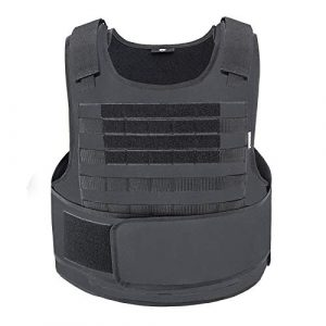 MGFLASHFORCE Airsoft Tactical Vest 1 MGFLASHFORCE Tactical Airsoft Vest Molle Adjustable Combat Training Paintball Vest