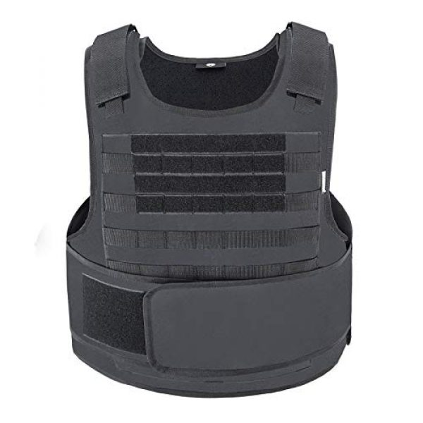 MGFLASHFORCE Airsoft Tactical Vest 1 MGFLASHFORCE Tactical Airsoft Vest Molle Adjustable Combat Training Paintball Vest