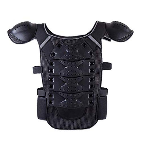 BESPORTBLE Airsoft Tactical Vest 2 BESPORTBLE Children Protective Vest Gear Safety Armour Jacket Protection Vest Protective Gear for Sports Kids Outdoor (Black)