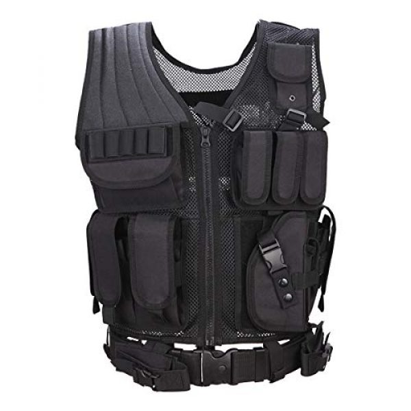 KIDYBELL Airsoft Tactical Vest 1 KIDYBELL Tactical Airsoft Vest for Outdoor Hunting Army Fan Combat Training CS Game 600D encrypted Nylon Fabric