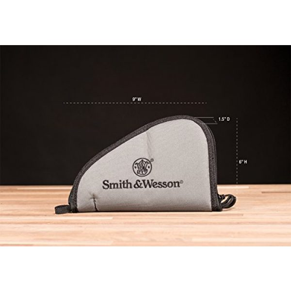 Smith & Wesson Pistol Case 2 M&P by Smith & Wesson Defender Handgun Case Single Padded Pistol Bag for Hunting Shooting Range Sports Storage and Transport