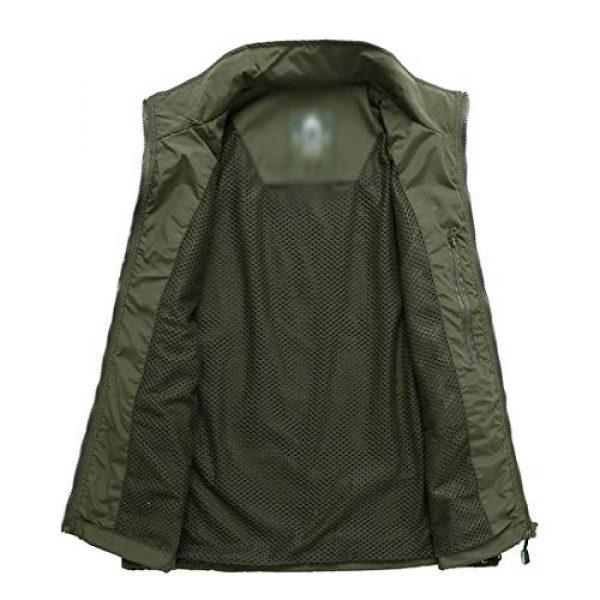 DAFREW Airsoft Tactical Vest 4 DAFREW Casual Vest Thin Section Spring and Autumn Vest Men's Multi-Pocket Outdoor Photography Vest Middle-Aged Vest (Color : Khaki, Size : M)