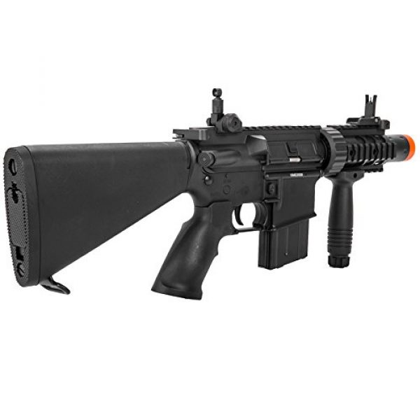 MetalTac Airsoft Rifle 3 MetalTac Electric Airsoft Gun M4 CQB 02 A&K with Full Metal Body, Metal Gearbox Version 2, Full Auto AEG, Upgraded Powerful Spring 380 Fps with .20g BBS
