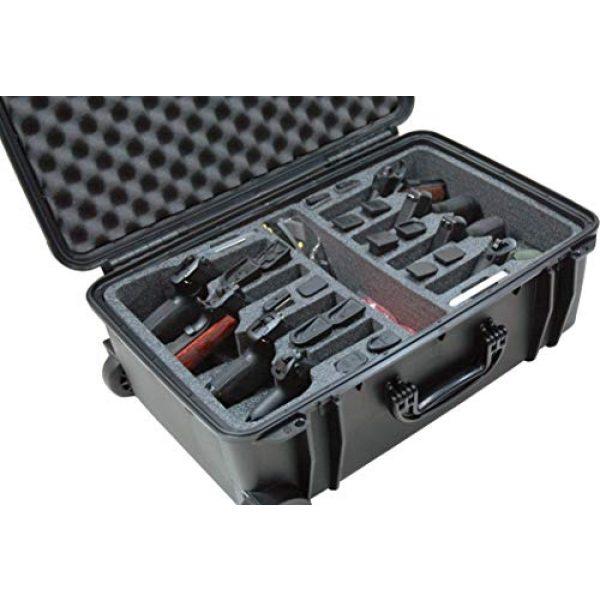 Case Club Pistol Case 1 Case Club 8 Pistol Pre-Cut Waterproof Case with 2 Silica Gel Canisters to Help Prevent Gun Rust