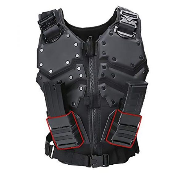 WEQ Airsoft Tactical Vest 1 WEQ Airsoft Tactical Vest Special Forces Chest Protector Vest Paintball Vest Outdoor Modular Combat Training Adjustable (Color : #B)