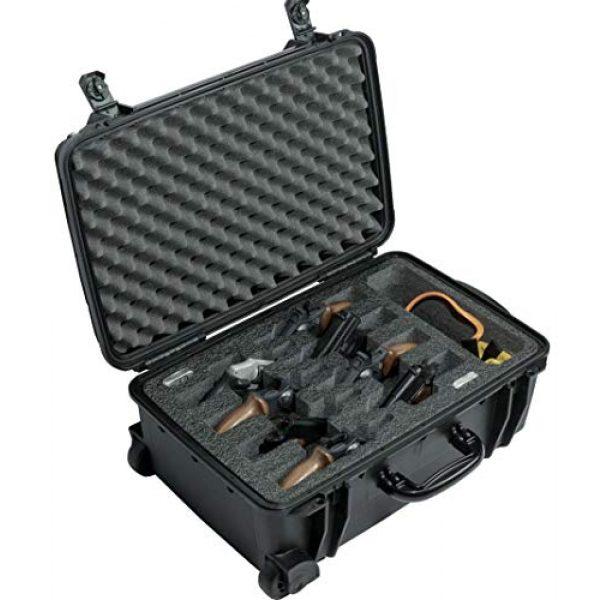 Case Club Pistol Case 1 Case Club 8 Revolver/Semi-Auto Pre-Cut Waterproof Case with Accessory Pocket & Silica Gel to Help Prevent Gun Rust