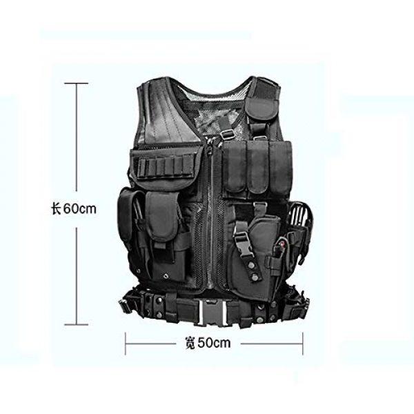 WEQ Airsoft Tactical Vest 4 WEQ Tactical Vest Modular Charge Vest Police Vest Law Enforcement Vest Adjustable Breathable Combat Training Vest
