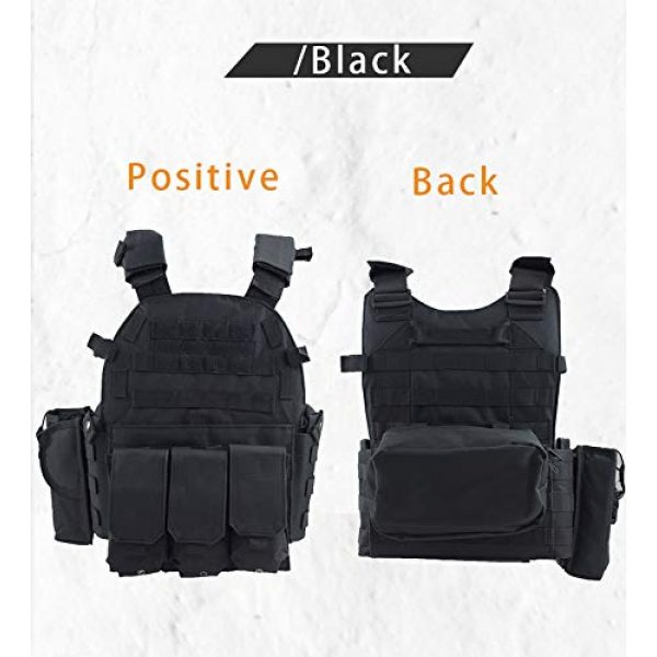 BGJ Airsoft Tactical Vest 2 Paintball 6094 Tactical Molle Vest Special Forces Military Army Vest Training CS Combination Vest Hunting Airsoft Body Armor