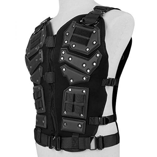 BGJ Airsoft Tactical Vest 2 Tactical Vest Protective Multi-Functional Body Armor Outdoor Airsoft Paintball CS Wargame Protection Equipment Molle Vests
