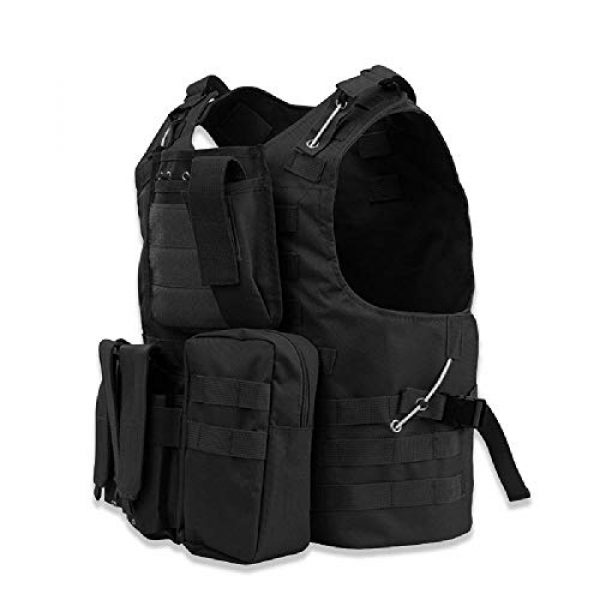 BGJ Airsoft Tactical Vest 7 Tactical Vest Airsoft Military Amphibious Camouflage Combat Vest Outdoor Hunting Army Body Armor Shooting CS Protection Vests