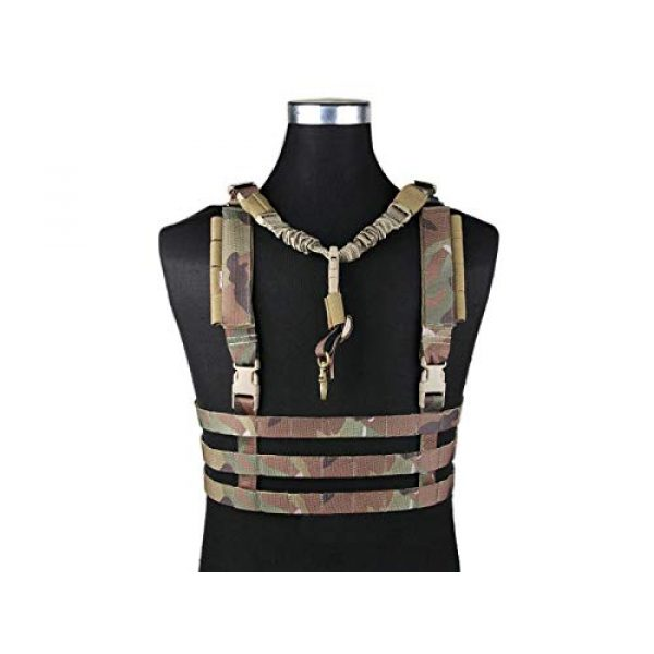Paintball Equipment Airsoft Tactical Vest 1 Paintball Equipment Emerson Molle System Low Profile Chest Rig Multicam MC