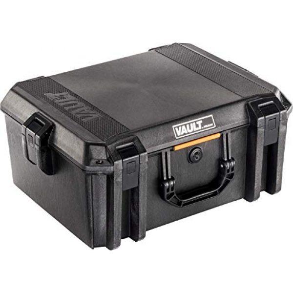 Pelican Pistol Case 1 Vault by Pelican - V550 Pistol/Equipment Case with Foam (Black)