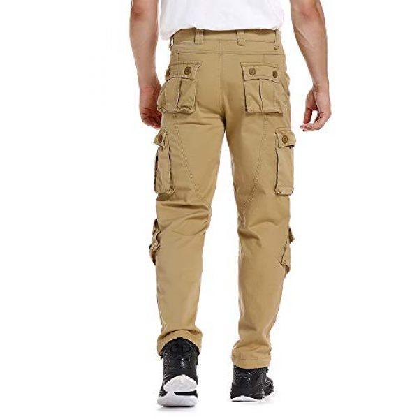 linlon Tactical Pant 4 Mens Cargo Pants, Camo Tactical Pants BDU Combat Work Pants with 8 Pockets