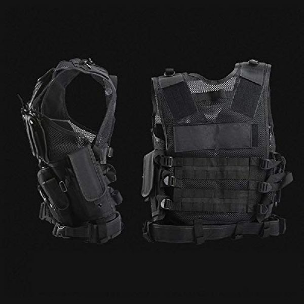 BGJ Airsoft Tactical Vest 6 BGJ Adjustable Tactical Vest Airsoft Paintball Vests Molle Combat Assault Hunting Accessories Men Army CS Hunting Camouflage Vests