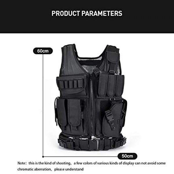 KIDYBELL Airsoft Tactical Vest 4 KIDYBELL Tactical Airsoft Vest for Outdoor Hunting Army Fan Combat Training CS Game 600D encrypted Nylon Fabric