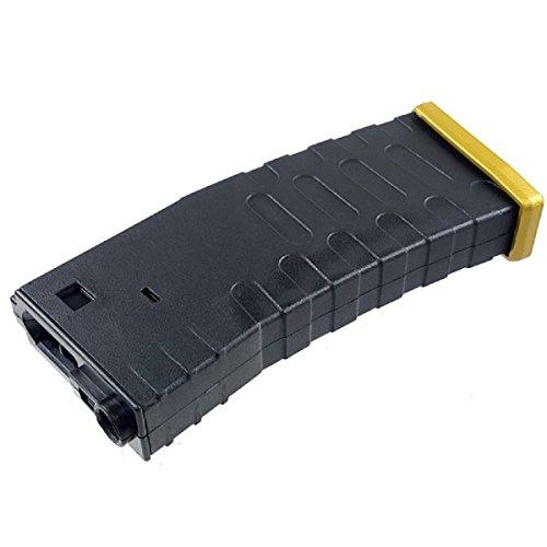 Airsoft Shopping Mall  1 Airsoft Shooting Gear APS Hi-Cap U Mag Magazine for ASR/UAR/M-Series AEG Black/Gold