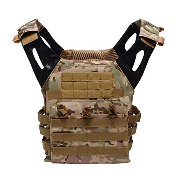 HAOWUTX Airsoft Tactical Vest 1 HAOWUTX Multifunctional Tactical Vest Outdoor Airsoft Tactical Hunting Vest (Color : Green)