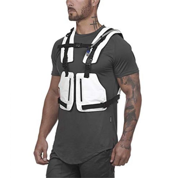 Armiya Airsoft Tactical Vest 4 Mens Molle Tactical Military Chest Rig Law Enforcement Work Reflective Vest Combat Condor Security Training Tool Pouch for Outdoor Paintball CS Game Airsoft Climbing Hiking (White)