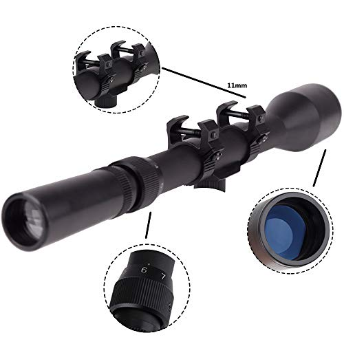 Robin Hunting  3 Robin Hunting 3-7x28mm Tactical Rifle Scope Reticle Shooting Hunting Sight with 11mm Free Mounts