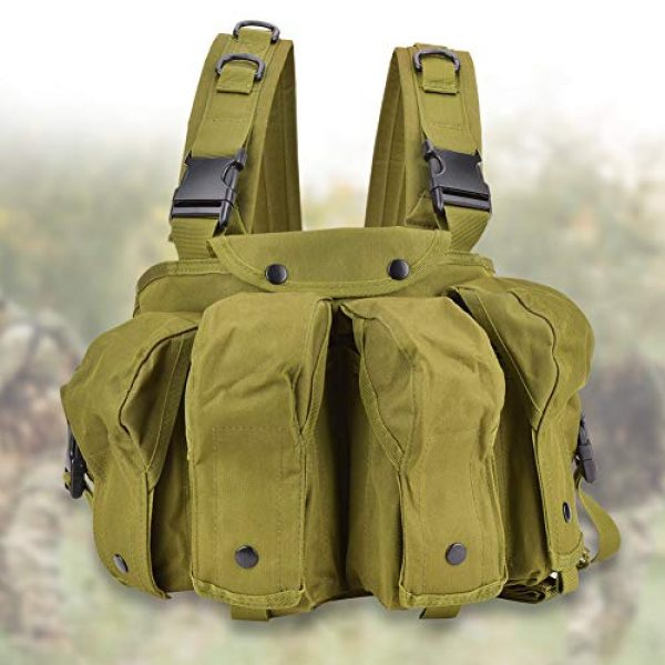 Yosoo Airsoft Tactical Vest 3 Yosoo Tactics Training Bag,Nylon Outdoor Tactics Vest Military Fan Camouflage Waistcoat Training Bag Equipment