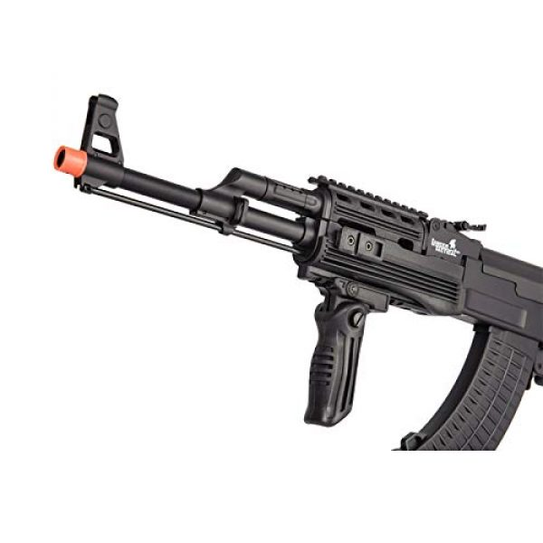 Lancer Tactical Airsoft Rifle 5 Lancer Tactical Airsoft Full Metal AK-47 AEG Rifle LE Stock with Battery & Charger Black
