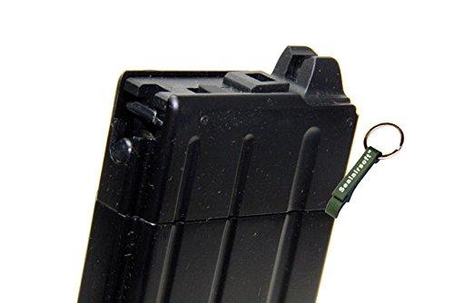 KJW  3 KJ Works 30rds Airsoft 6mm GAS Tanio Koba V2 Magazine For M4 Series GBB Black -Mobile Ring Included