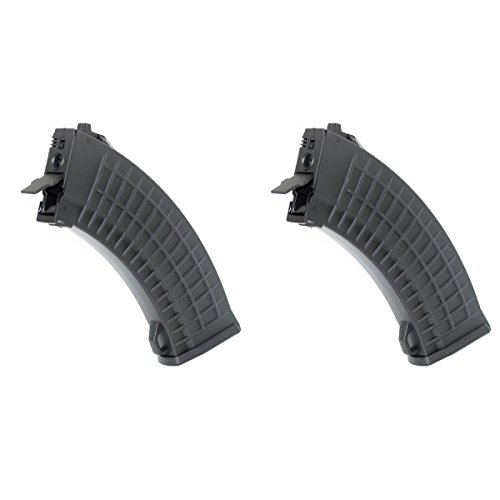Airsoft Shopping Mall  1 Airsoft Shooting Gear CYMA 2pcs 550rd Hi-Cap Bulgarian Waffle Mag Magazine For AK Series Black