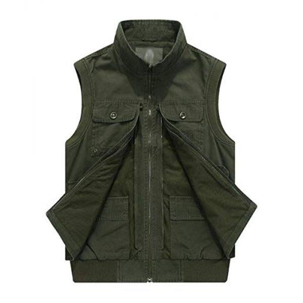 DAFREW Airsoft Tactical Vest 2 DAFREW Men's Vest Vest Casual Cotton Vest Men's Outdoor Travel Vest (Color : Khaki, Size : XL)