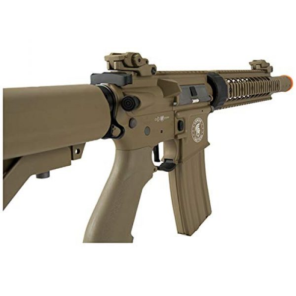 "Lancer Tactical Airsoft Rifle 4 Lancer Tactical M4 SD Proline Series 9"" Rail Airsoft AEG [Low FPS] - TAN"