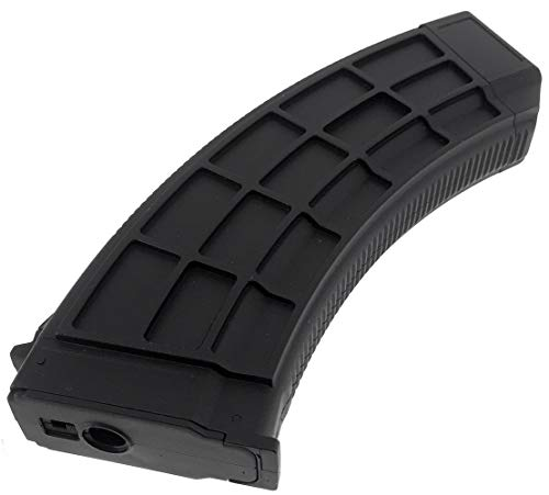 SportPro  6 SportPro 130 Round Polymer Thermold Waffle Medium Capacity Magazine for AEG AK47 AK74 Airsoft - Black