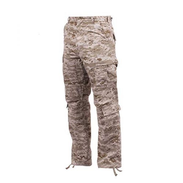 Rothco Tactical Pant 2 Vintage Camo Paratrooper Fatigue Pants, Desert Digital Camo, L