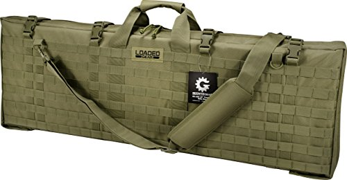 """Loaded Gear Rifle Case 1 Loaded Gear 40"""" Rifle Tactical Rifle Gun Case Bag Unfolded to Become a Shooting Mat (Green)"""