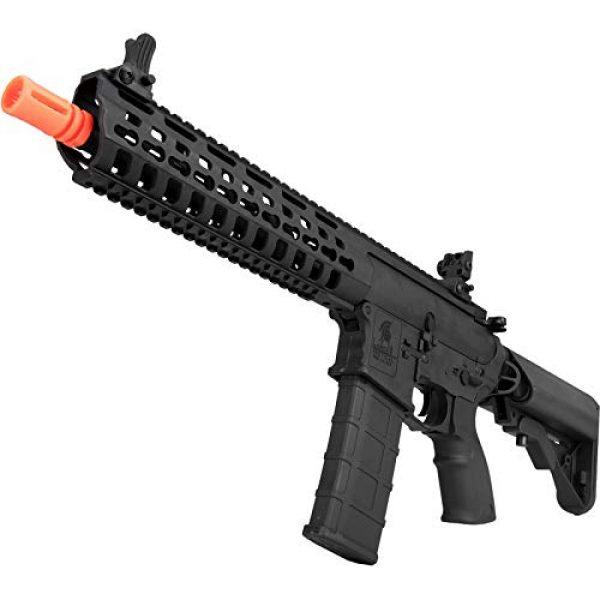 "Lancer Tactical Airsoft Rifle 5 Lancer Tactical 10.5"" Rapid Deployment Carbine M4 RDC Airsoft AEG Rifle Low Speed Black"