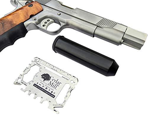 Cedar Mill Fine Firearms Pistol Case 4 Cedar Mill Fine Firearms -Worlds Smallest Micro Pistol Cleaning Kit for Handguns | Free Super-X Tool Bundle with Hard Gun Case Pistol Case (Urban Gray) |TSA Approved with Pick and Pluck Foam (2 items)