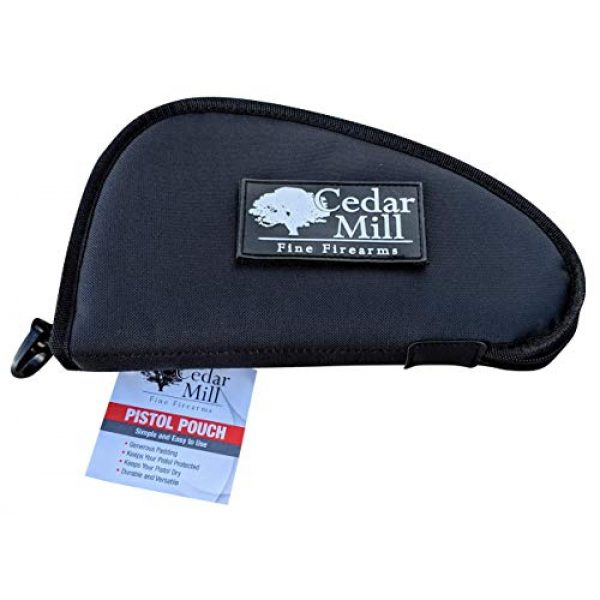 Cedar Mill Fine Firearms Pistol Case 5 Cedar Mill Fine Firearms - Deluxe Tactical Soft Pistol Gun Rug Case | Thick Double Padding