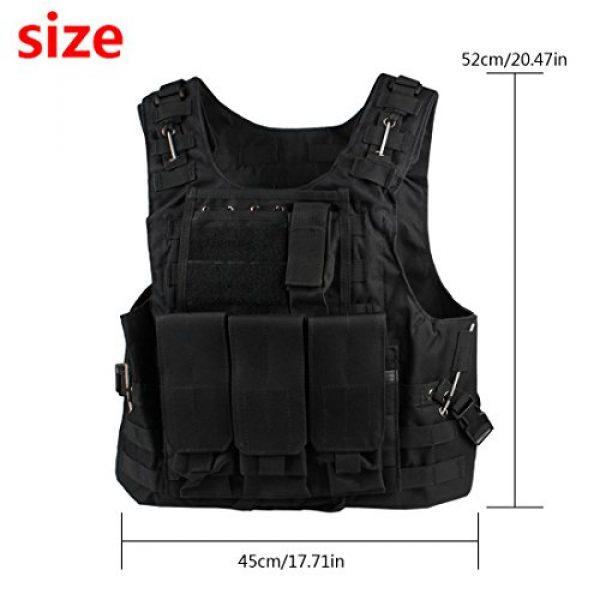 Andux Airsoft Tactical Vest 2 Andux Land Airsoft Assault Vest Paintball Combat Vest Tan Adult ZSBS-01