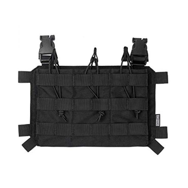 OneTigris Airsoft Tactical Vest 6 OneTigris Tactical Panel Placard Adapter & Tactical Placard 03 (Black)