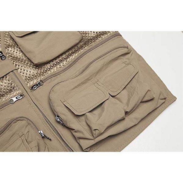 DAFREW Airsoft Tactical Vest 6 DAFREW Spring and Autumn Vest Men's Outdoor Photography Vest Multi-Pocket Vest Grid Vest (Color : Beige, Size : M)