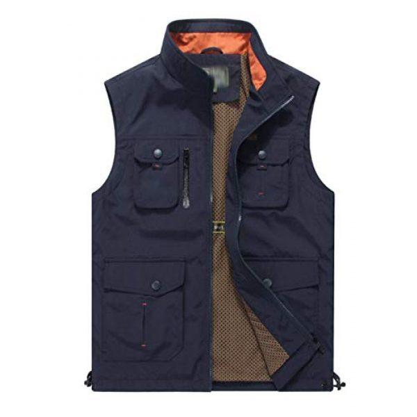 DAFREW Airsoft Tactical Vest 1 DAFREW Men's Casual Vest Multi-Pocket Vest Outdoor Fishing Photography Vest Grid Vest (Color : Royal Blue, Size : M)