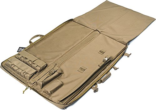 "Loaded Gear Rifle Case 4 Loaded Gear 40"" Rifle Tactical Rifle Gun Case Bag Unfolded to Become a Shooting Mat (Brown)"