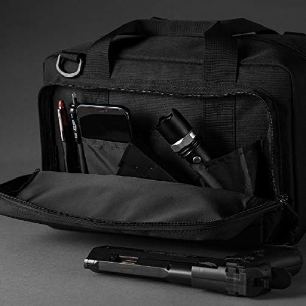 Sucipi Pistol Case 5 Sucipi Gun Case Soft Tactical Pistol Bag Hunting Shooting Range Bag Gun Bag for 2 Handguns and 9mm Ammo with Lock