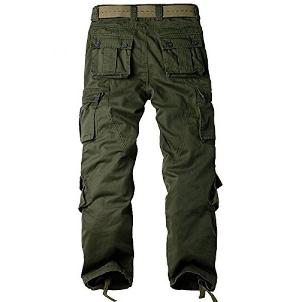 Jessie Kidden Tactical Pant 2 Men's BDU Casual Military Pants, Cotton Camo Tactical Wild Combat Cargo ACU Rip Stop Trousers with 8 Pockets