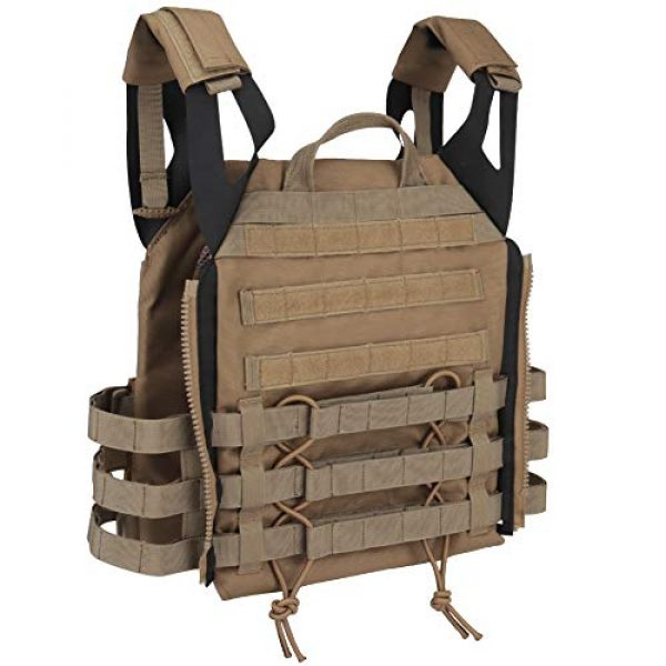 DETECH Airsoft Tactical Vest 6 DETECH Tactical JPC MOLLE Vest with Backpack Expand Bag for Airsoft Paintball Hunting