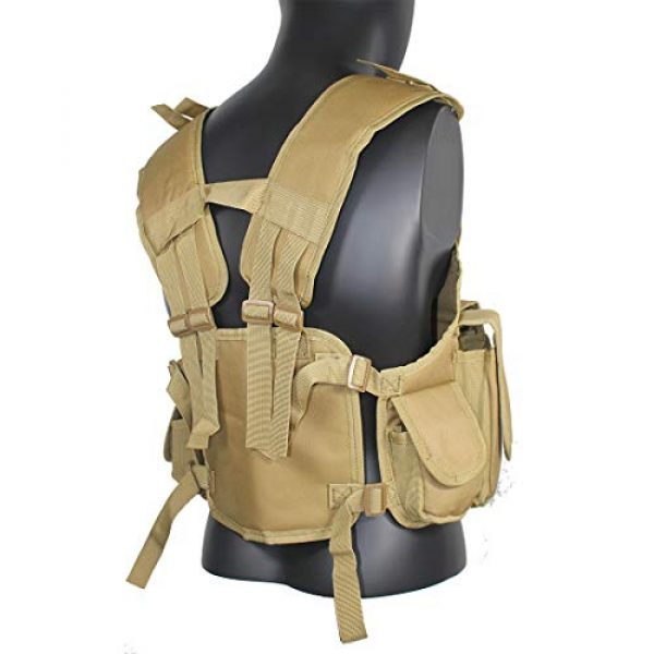 Yoghourds Airsoft Tactical Vest 5 Yoghourds Tactical Vest for Men Airsoft Guns Vest Adjustable Outdoor Combat Training Vest Ultra-Light Breathable for Adults in Hunting Fishing CS Field