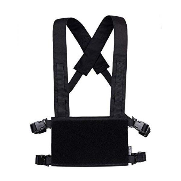 OneTigris Airsoft Tactical Vest 6 OneTigris Black Tactical Vest & Chest Rig Set
