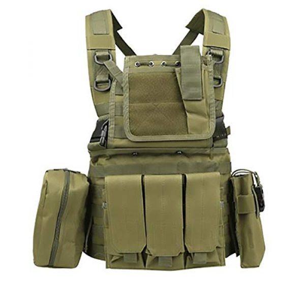WEQ Airsoft Tactical Vest 1 WEQ Multifunctional Tactical Vest Modular Vest Reconnaissance Field CS Combat Vest (Color : #E)